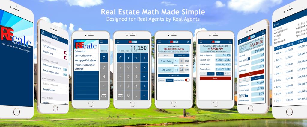 RE CALC Real Estate Calculator App